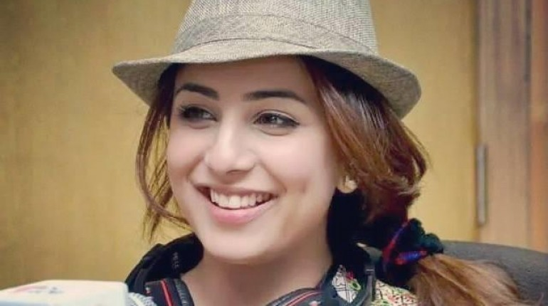 Ushna Shah smiling