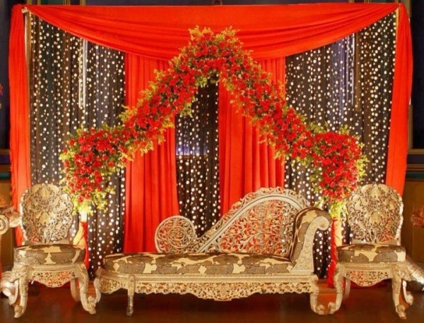 Wedding  Stage Decoration Ideas 2016-orange