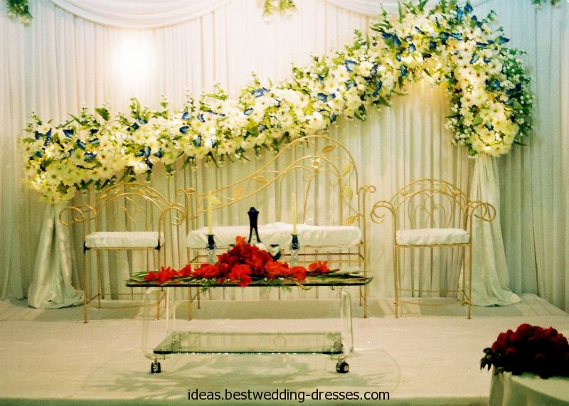 Wedding stage decoration ideas 2016 reception Simple flower decoration ideas