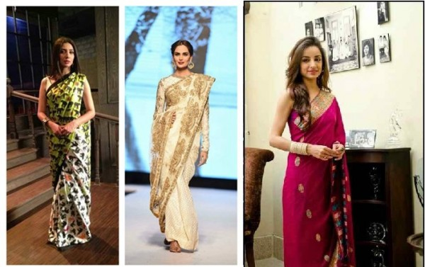 Celebrities in Latest Sarees Designs