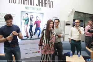 cast of Ho Mann Jahaan at IOBM university