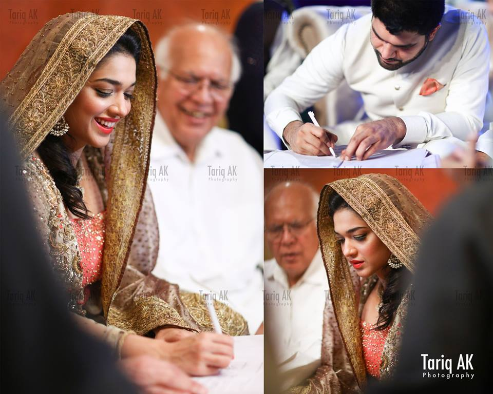 See Sanam Jung signing her Nikkah papers