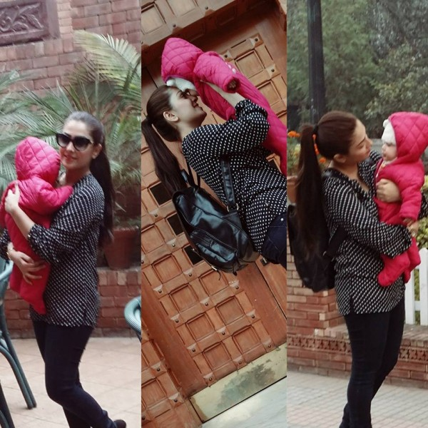 Ayeza Khan spending time with her Daughter (3)