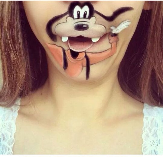 Crazy and Funny Lip Art Designs-  mickey