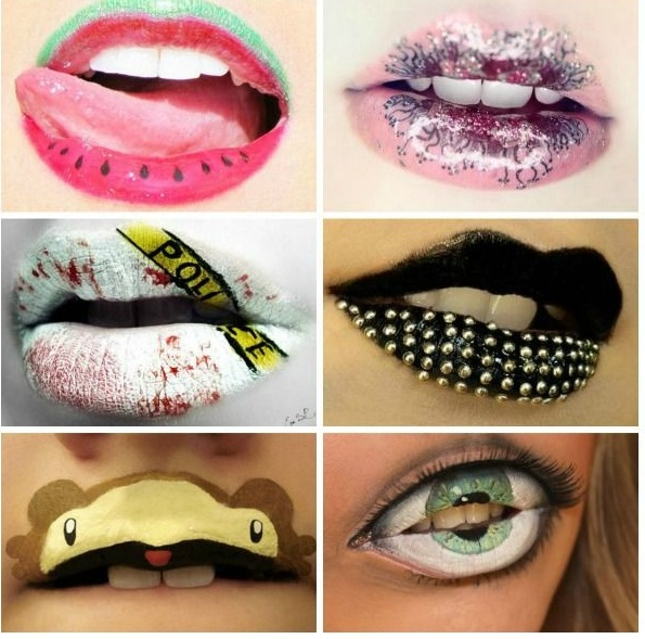 Crazy and Funny lip art designs 4