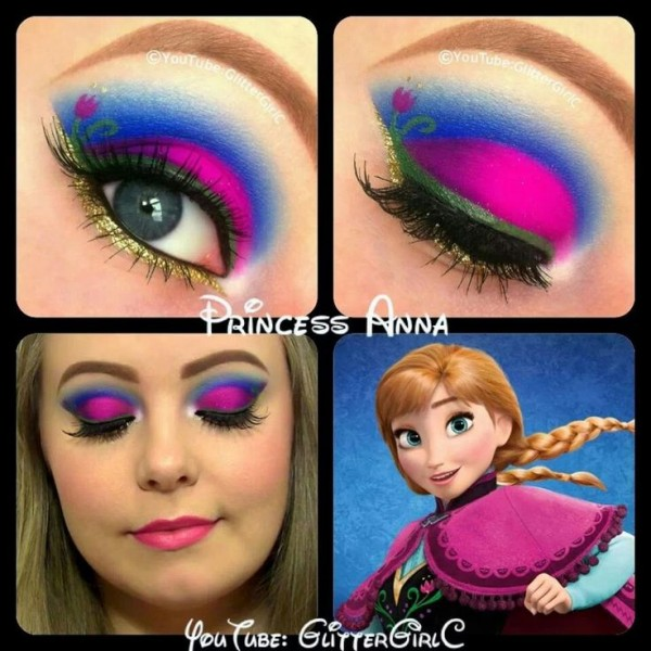 Eye Makeup for Disney Lovers-frozen