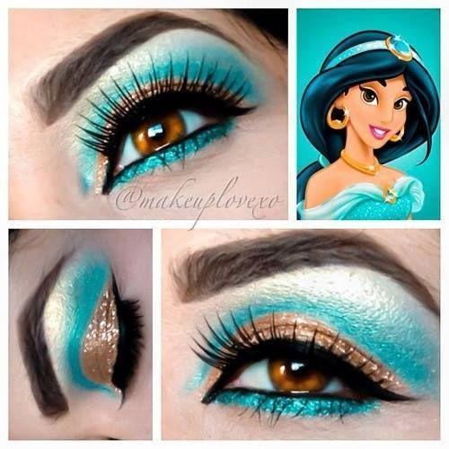 Eye Makeup for Disney Lovers- jasmine