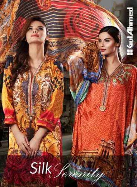Gul Ahmed Silk Dresses 2016 For Women007