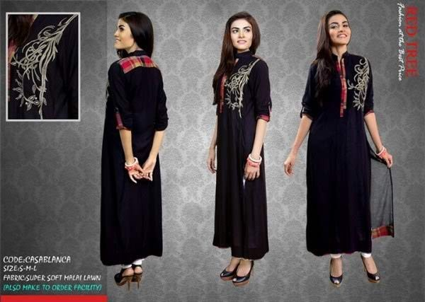 369b589d9 Latest Pakistani Casual Dresses Designs 2017 For Girls - Style.Pk