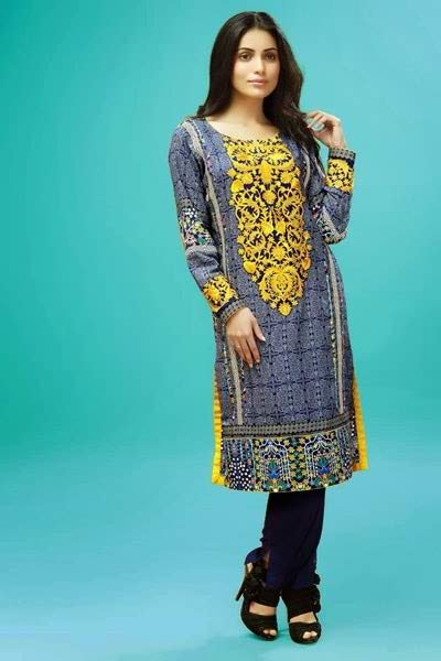 fb15a5bc7bb4 Latest Pakistani Casual Dresses Designs 2017 For Girls - Style.Pk