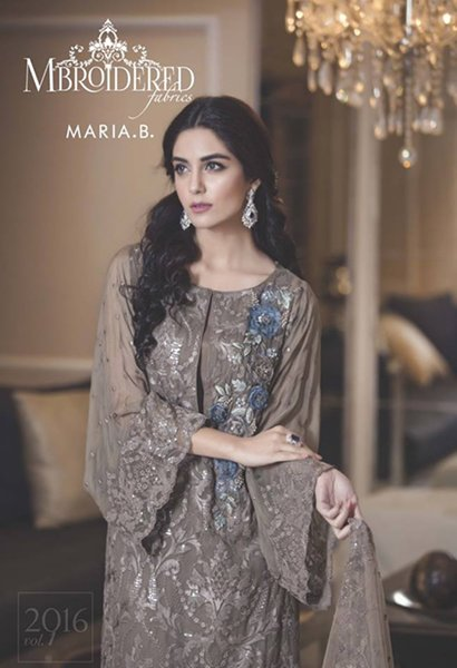 Maria B Mbroidered Unstitched Dresses 2016 For Women0010