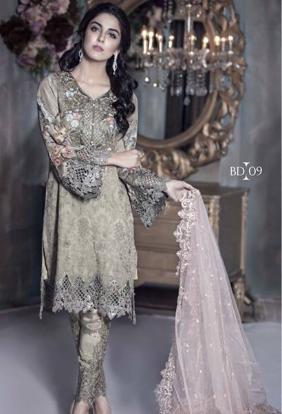 Maria B Mbroidered Unstitched Dresses 2016 For Women008