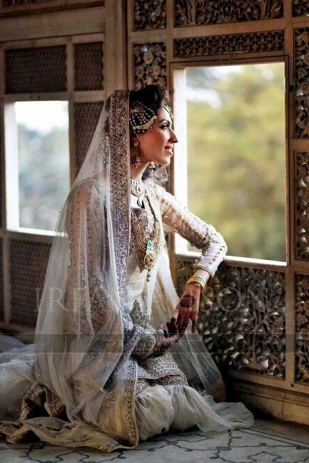Pakistabi Bride in White- 2016