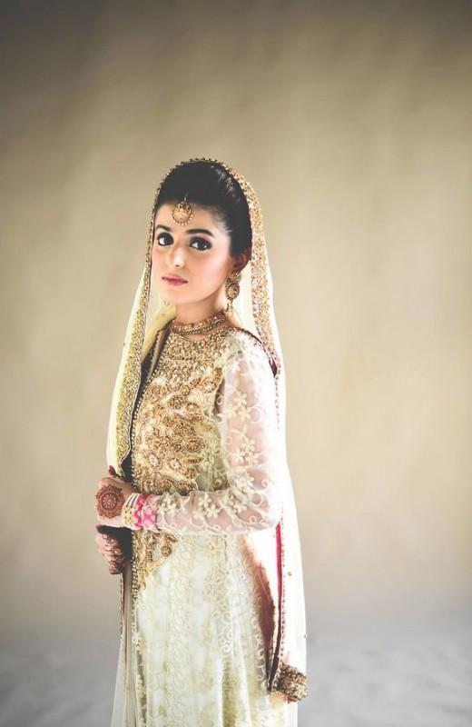 Pakistabi Bride in White- white