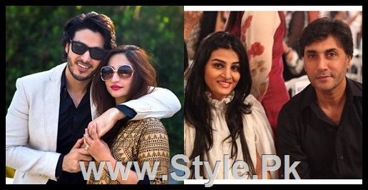 Pakistani Actors with their wives 1