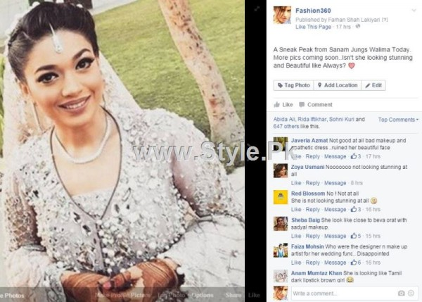 See Sanam Jung is criticized for her Walima Makeup