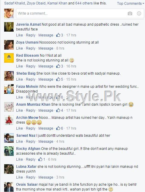 Sanam Jung is being criticized for her Walima Makeup