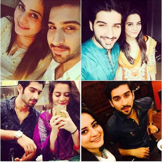 top pictures of adorable couple aiman khan and muneeb butt