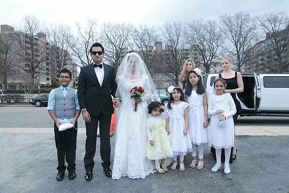 Veena Malik's White Wedding dress (9)