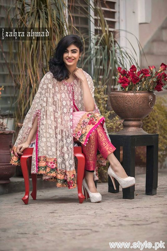 9d0fd38af878 Zahra Ahmad Part Dresses 2016 For Girls and Women - Style.Pk