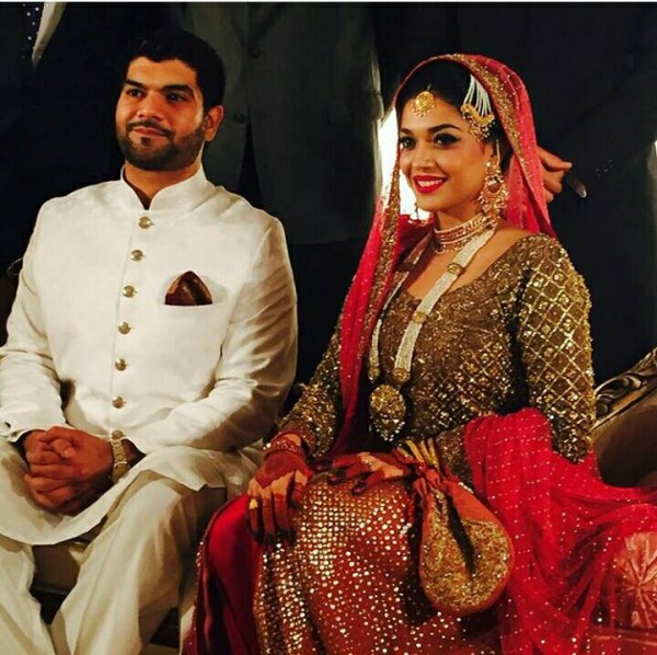 Sanam Jung With Her Husband Qaam