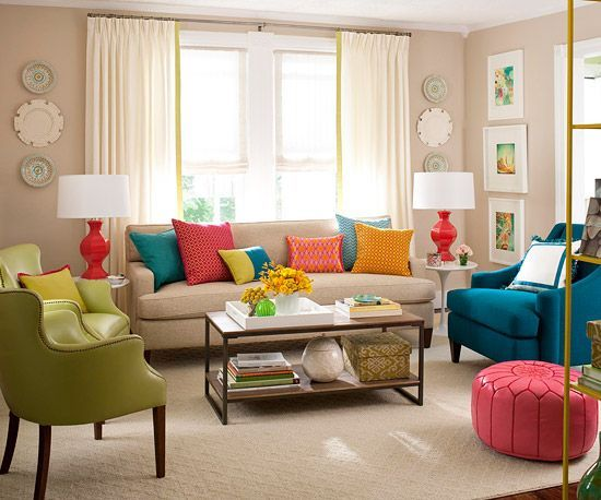 Vintage Add colors in your Living Room