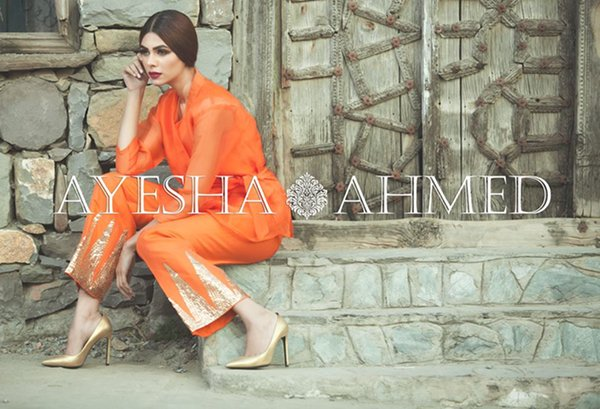 Ayesha Ahmed Silk Dresses 2016 For Women001