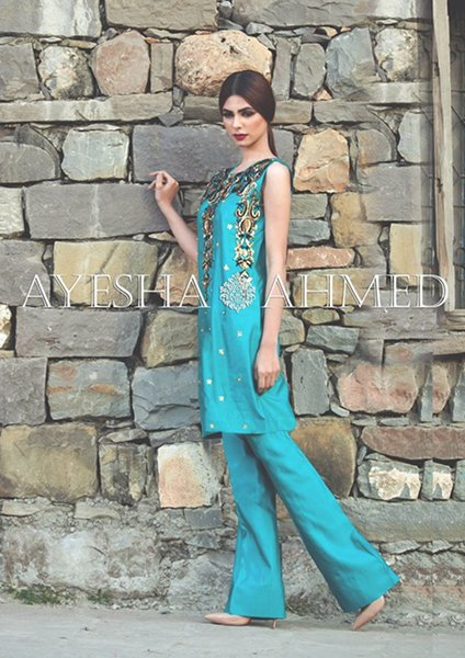 Ayesha Ahmed Silk Dresses 2016 For Women005