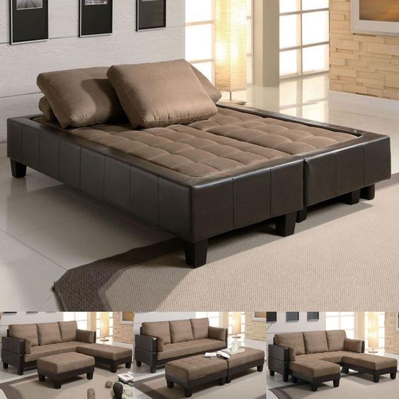 Convertible Furniture Ideas for Small Space. brown
