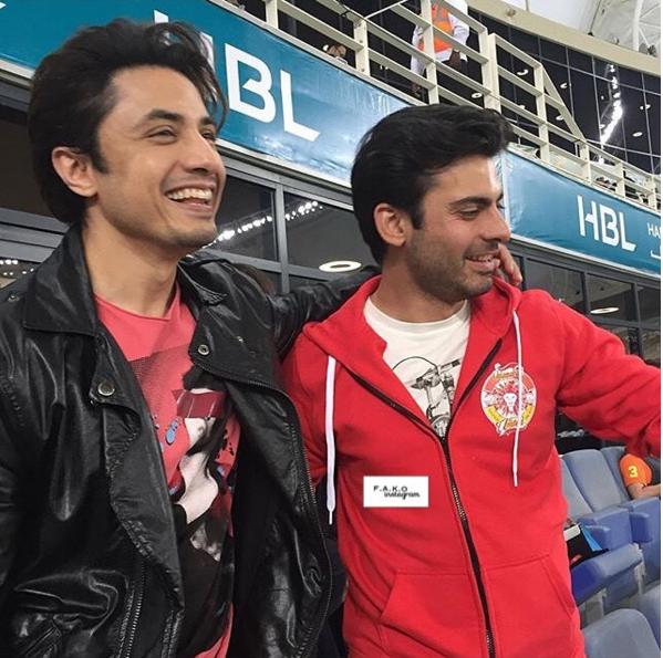 Exciting Selfies of Fawad Khan with Ali Zafar at PSL. killers