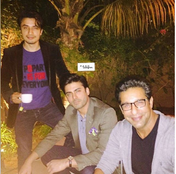 Exciting Selfies of Fawad Khan with Ali Zafar at PSL.3