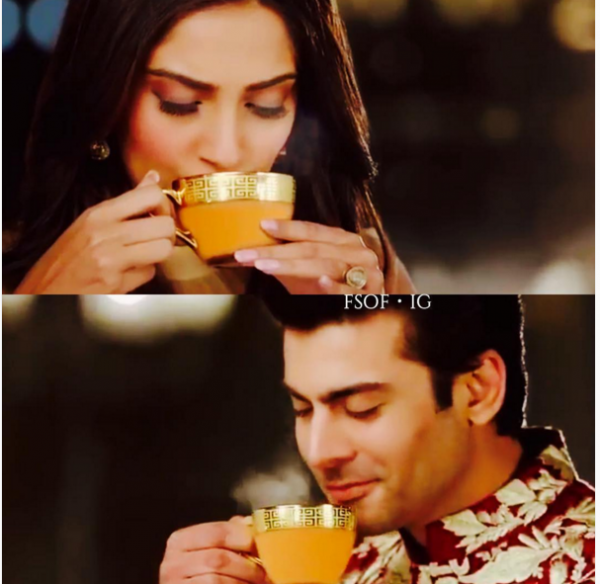 Fawad Khan Romance With Soman Kapoor in Tanrang Ad 3