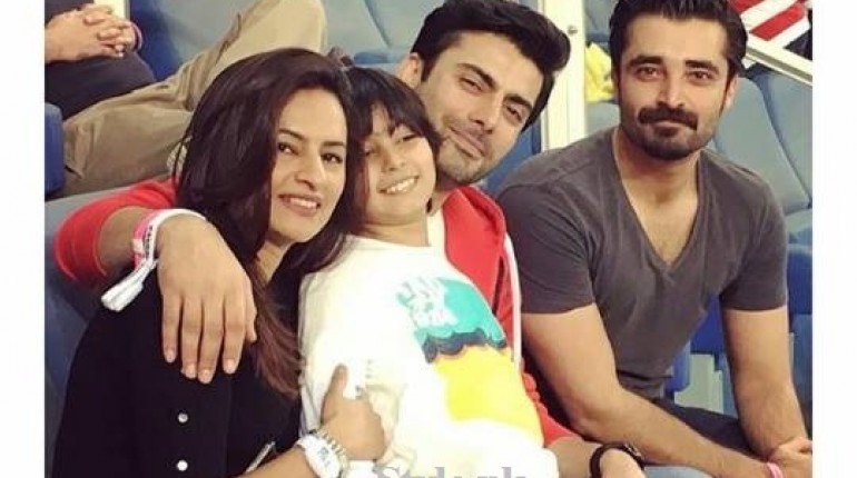See Fawad Khan with Family at PSL Opening Ceremony in Dubai