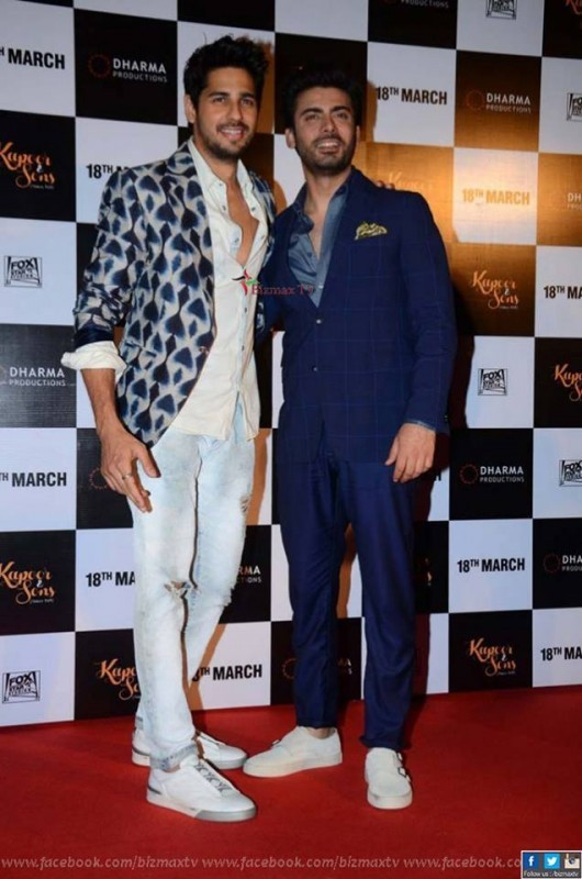Fawad Khan with Siddhart Malhotra