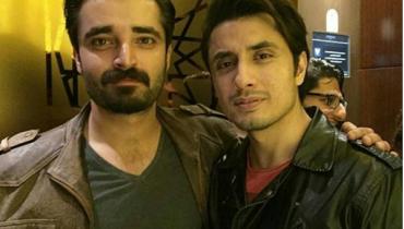Hamza Ali Abasi in Dubai to Support PSL Peshawar Zalmi. ali zafar