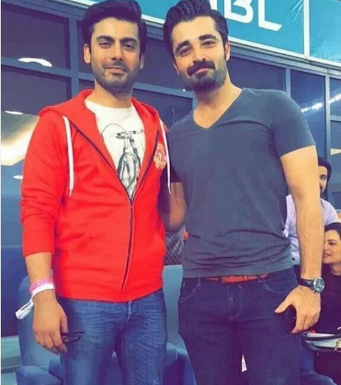 Hamza Ali Abasi in Dubai to Support  PSL Peshawar Zalmi. fawad again 2