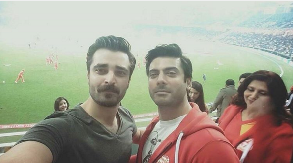 Hamza Ali Abasi in Dubai to Support  PSL Peshawar Zalmi. fawad again