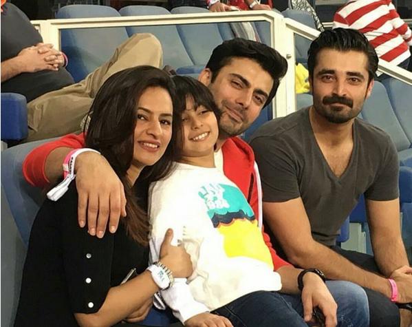 Hamza Ali Abasi in Dubai to Support  PSL Peshawar Zalmi. fawad