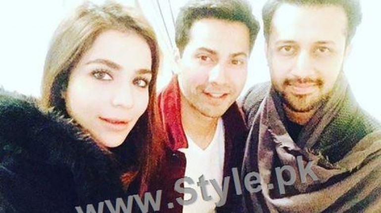 See Humaima Malick's pictures with Atif Aslam and Varun Dhawan in Dubai