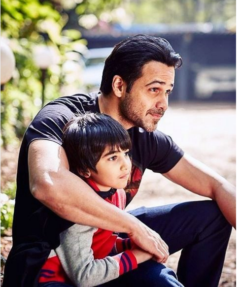 Emraan Hashmi and Amir Khan with their Son