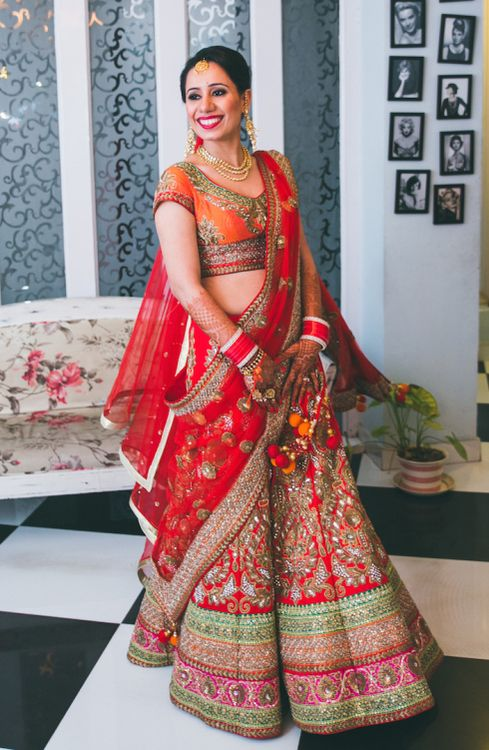Wedding Dresses From India 59 Spectacular Indian Wedding lehngay red
