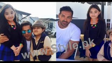 See Javeria Saud's kids with Varun Dhawan and John Ibrahim