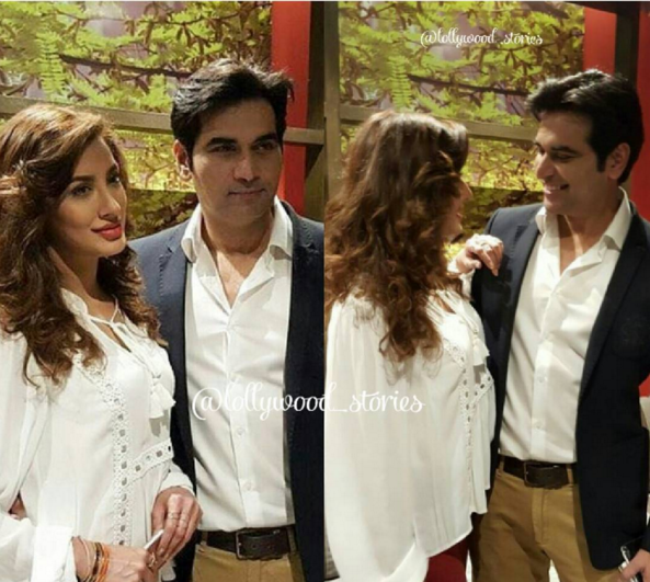 Mewish Hayat and Humayun Saeed at the launch of Dillagi