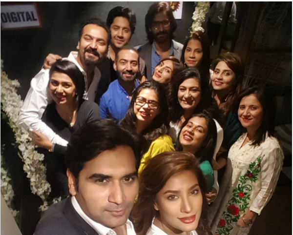 Mewish Hayat and Humayun Saeed at the launch of  Dillagi.single.4.selfie