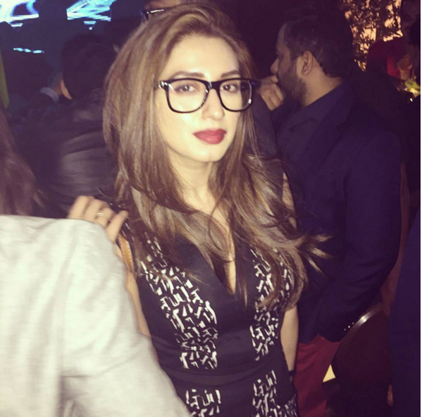 Pakistani Celebrities at Valentine day Party in Karachi.iman