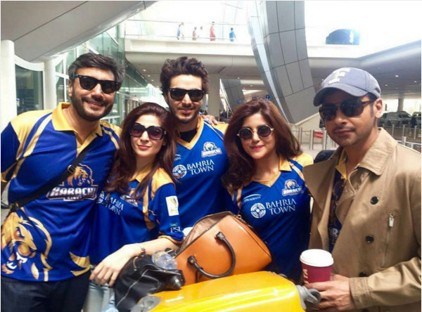 Pakistani Celebrities in Dubai to support Karachi Kings.2