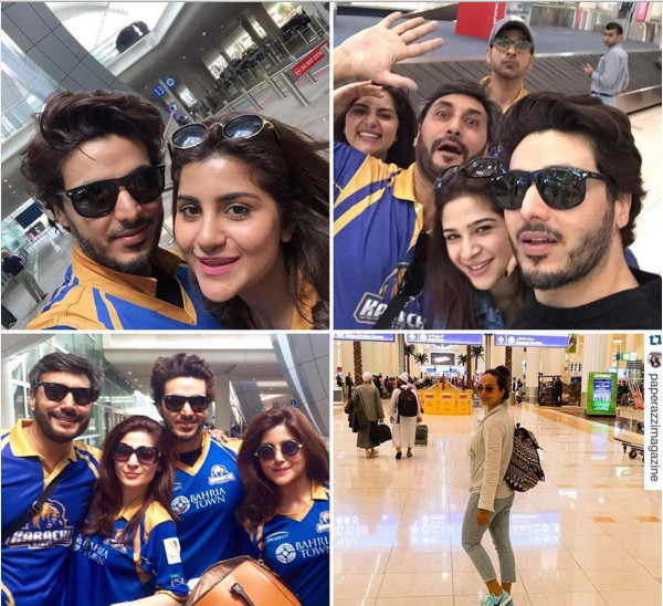 Pakistani Celebrities in Dubai to support Karachi Kings.4