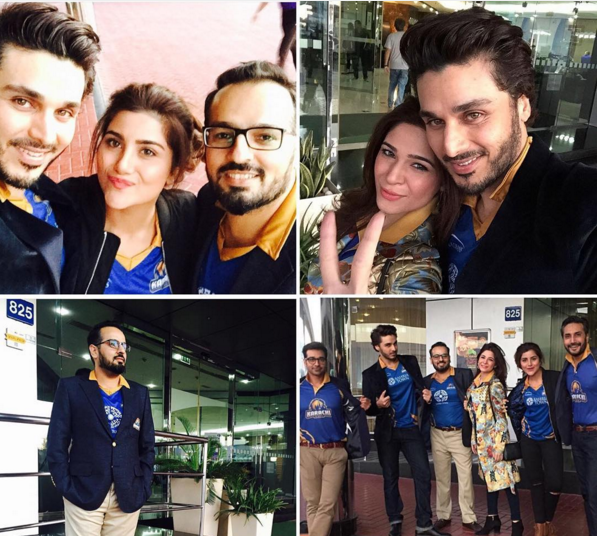Pakistani Celebrities in Dubai to support Karachi Kings
