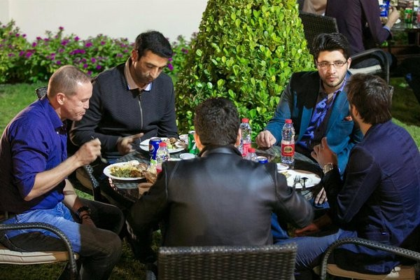 Peshawar Zalmi at the Afridi place for Delightful  Dinner