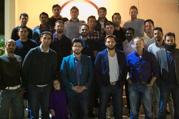 Peshawar Zalmi at the Afridi place for Delightful Dinner.1
